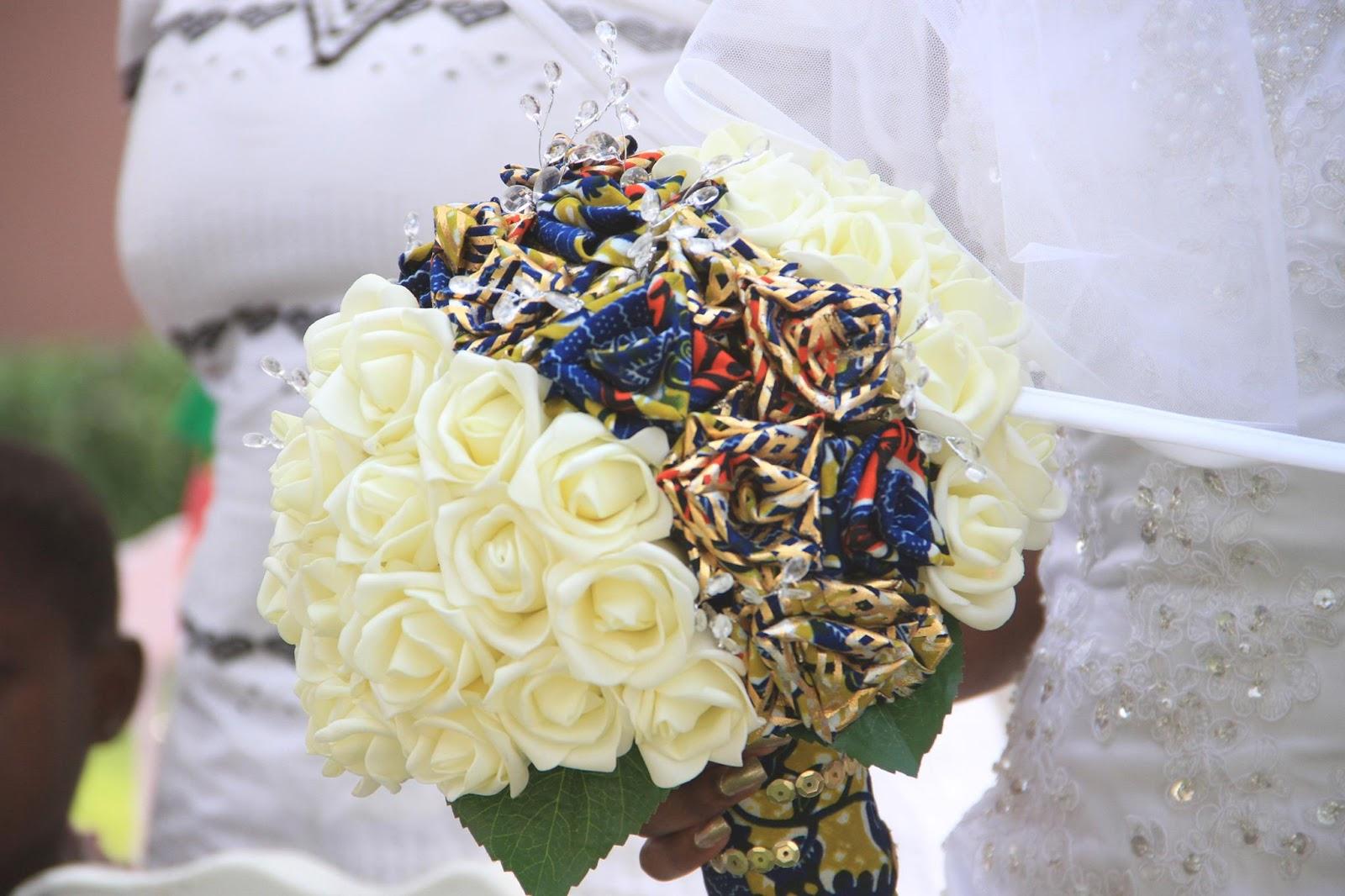 Ankara wedding bouquet