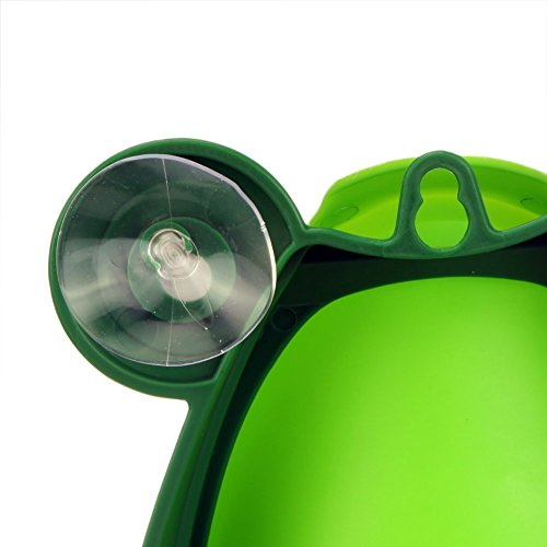 5d587e061a0dc Foryee Cute Frog Potty Training Urinal for Boys with Funny Aiming Target – Blackish  Green